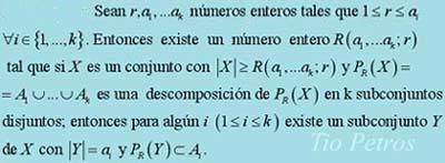 El teorema de Ramsey