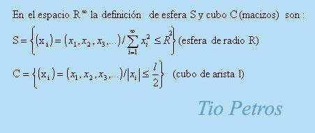 Paradojas infinitodimensionales ( y 2)